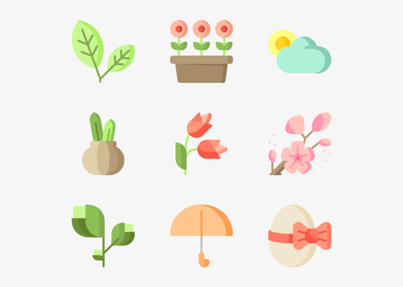 Spring Flowers Vector Png Png Freeuse Download - Spring Icons, transparent png #7047