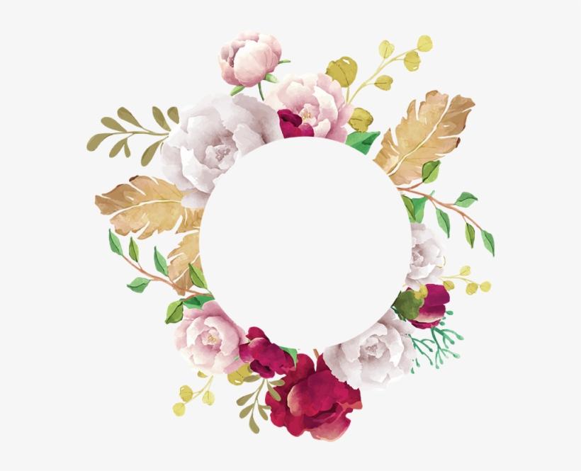 Flower Frame, Flower, Frame, White, Pink, Red, Burgundy, - Flower Frame Png Transparent, transparent png #7097