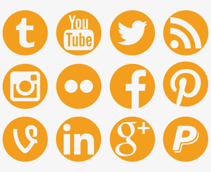 Social Media Icons Png - Marketing With Social Media 10 Easy Steps, transparent png #7120