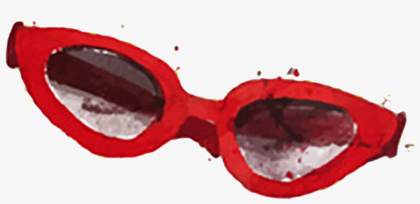 Goggles Red Sunglasses Watercolor Painting - Red Sunglasses Watercolor, transparent png #7121