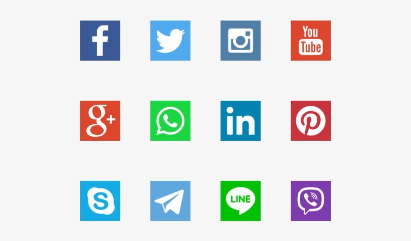 Social Networks Logos - Social Media Drives Traffic To Website, transparent png #7307