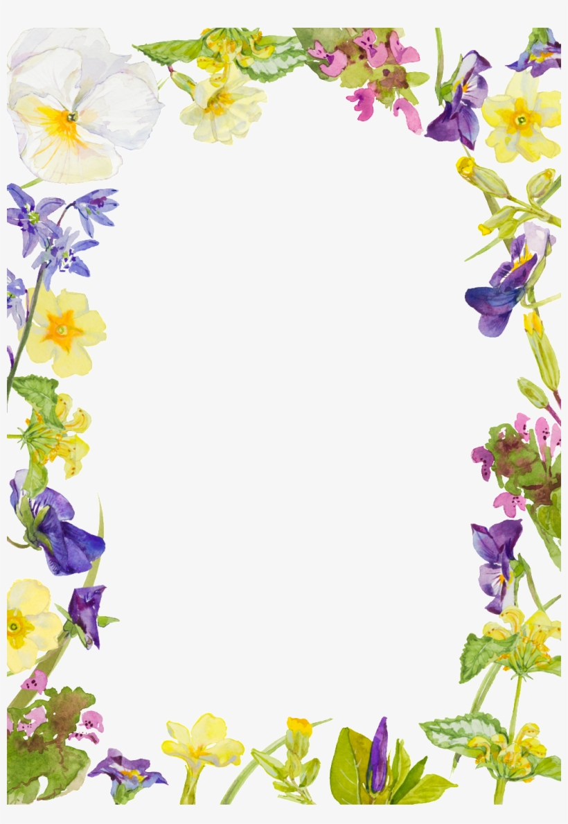 Purple Watercolor Hand-painted Flowers Transparent - Watercolor Painting, transparent png #7379