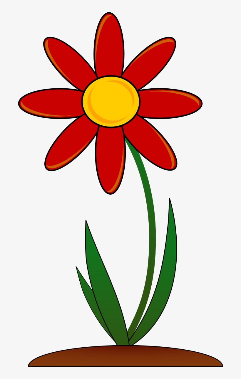 Spring Flowers Vector Png - Red Flower Clip Art, transparent png #7405