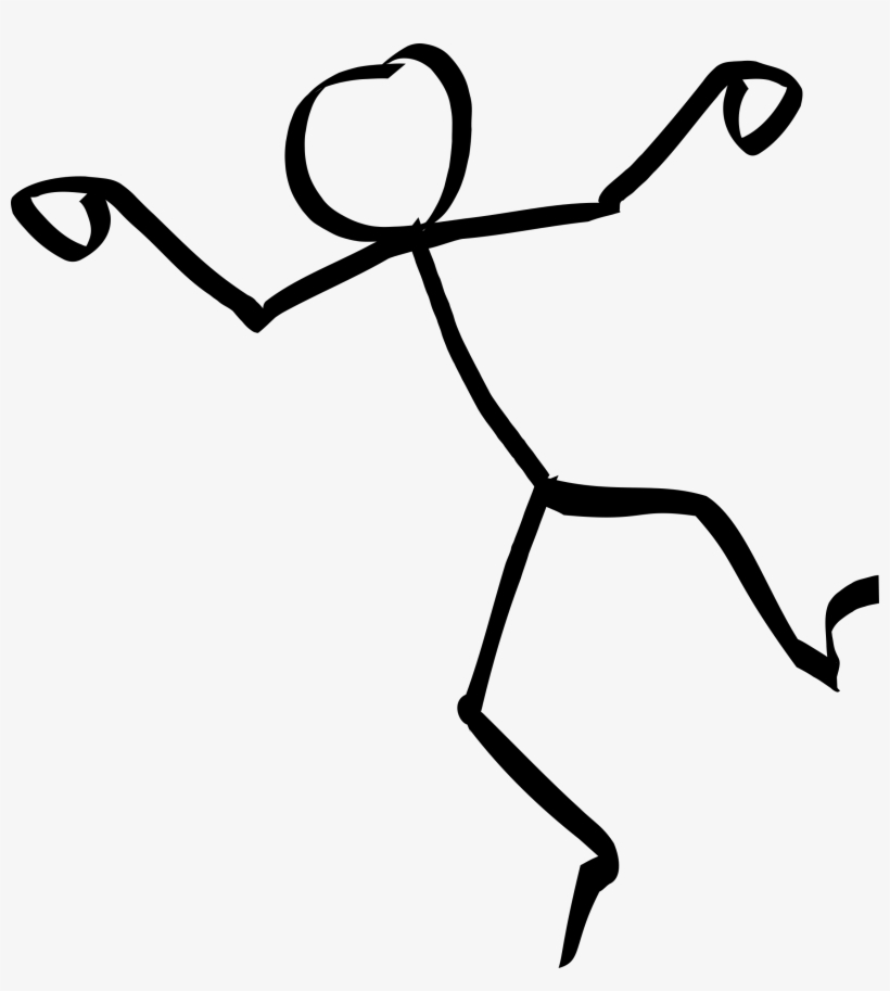 Dancing Stick Figure - Stick Figure Png, transparent png #7511