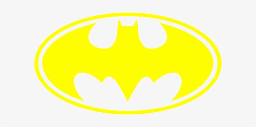 Batman symbol yellow. Logo no backgound clip