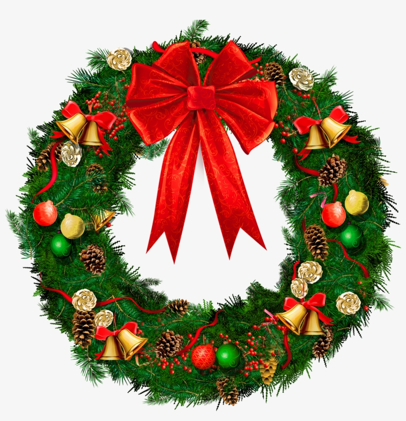 Christmas Wreath Border Png Picture Freeuse Library - Decoration On Christmas In School, transparent png #7631