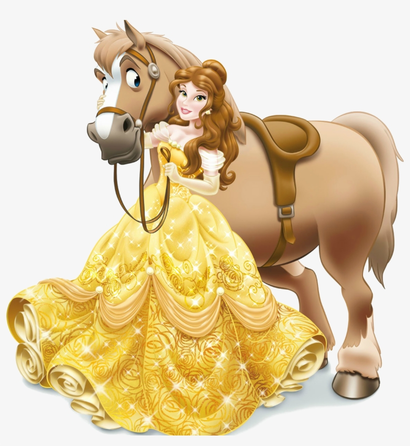 Belle With Horse - King Disney Princess Giant Floor Puzzle (24 Pieces), transparent png #8019