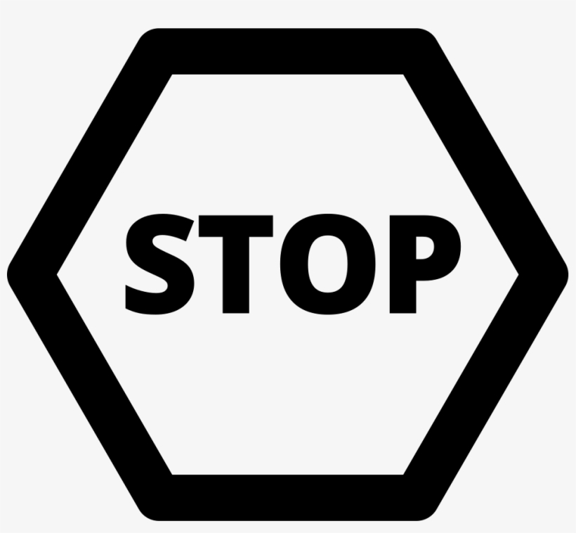 Stop Sign - - Stop Sign Icon Png, transparent png #8077