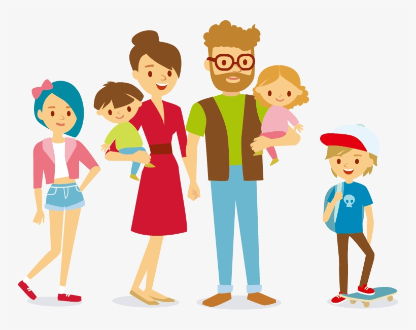 Cartoon Stock Photography Clip - Clip Art Travel Family, transparent png #81
