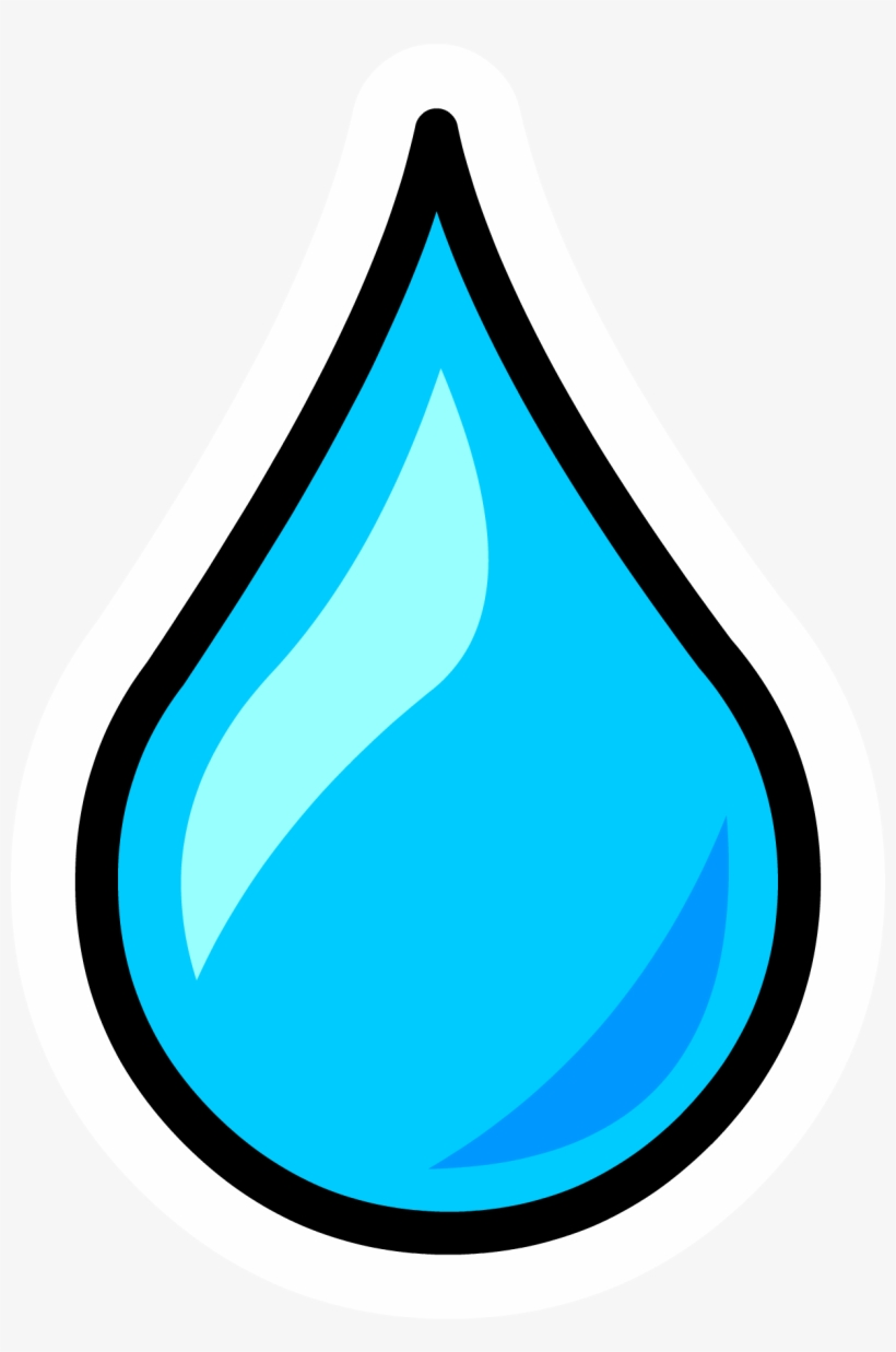 Water Droplet Pin - Drop Of Water Clipart, transparent png #8261