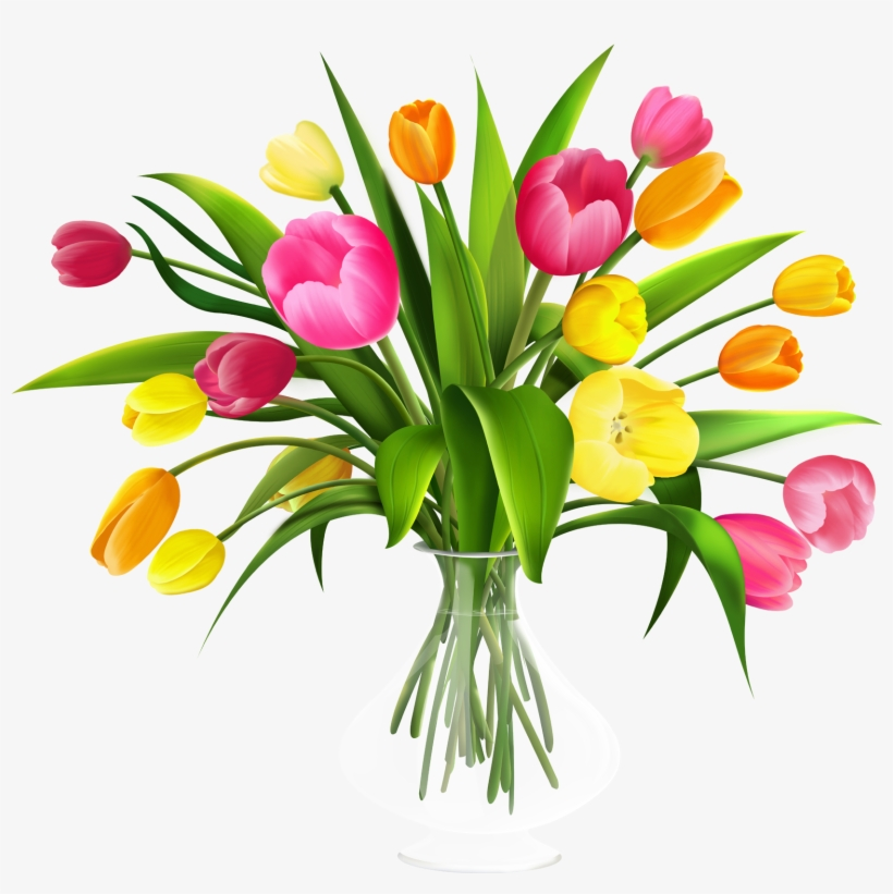 Free Clip Art Flowers In Vase Flower Bouquet Png Free Transparent Png Download Pngkey