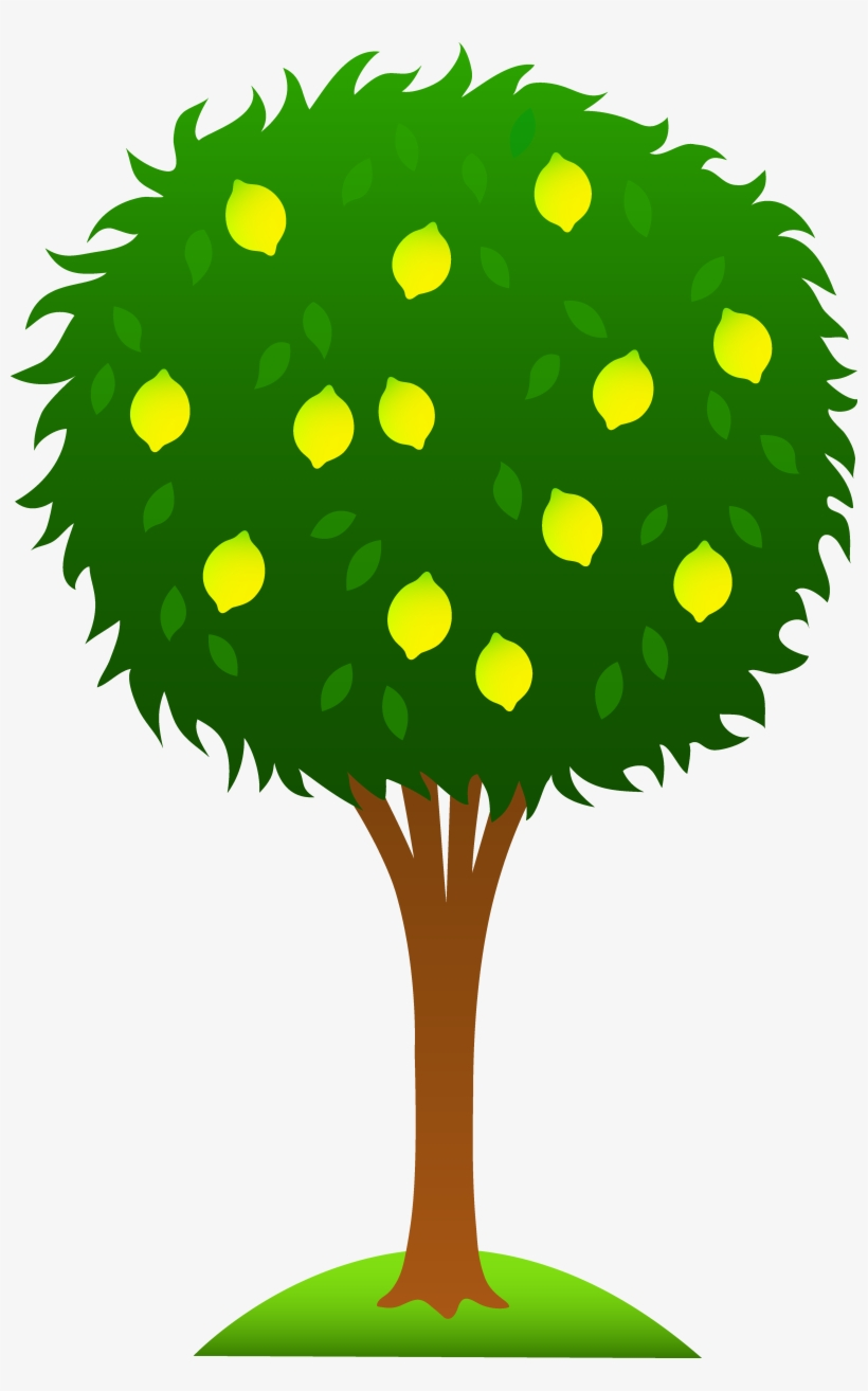Cartoon Tree Clipart Pinterest - Lemon Tree Clip Art, transparent png #8503