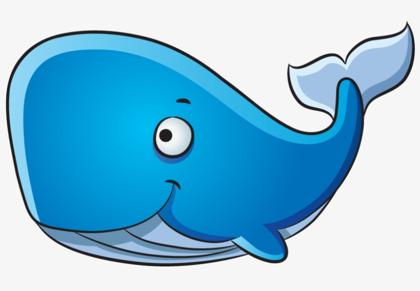Blue Drawing Pineapple - Whale Cartoon Png, transparent png #8533