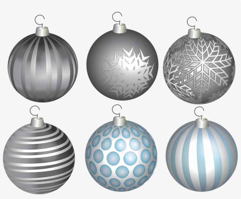 Christmas, Holiday, Ball, Tree, Ornament, Winter, Xmas - Bola De Natal Prata Png, transparent png #8578