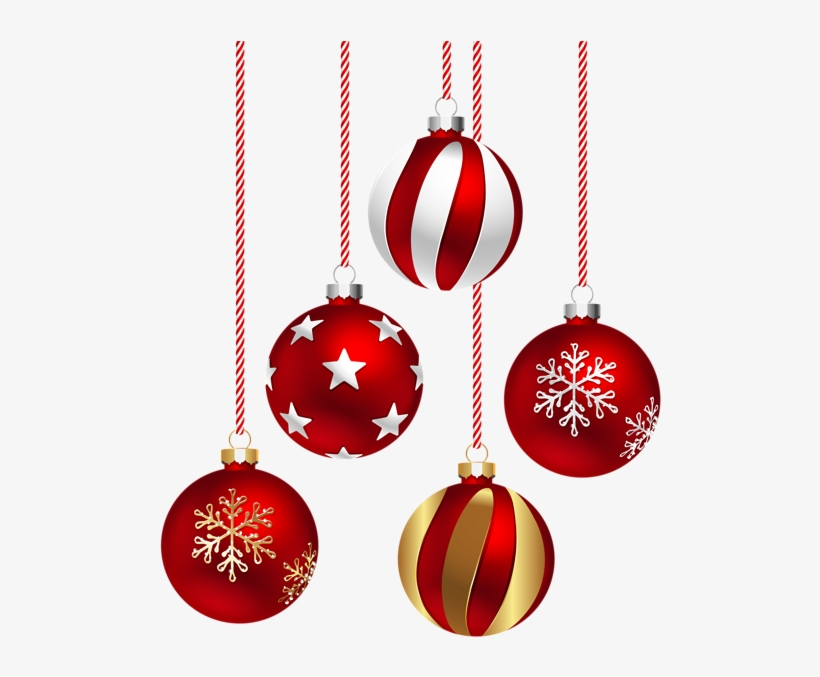 Holiday Ornament Png - Christmas Red Balls Png, transparent png #8700