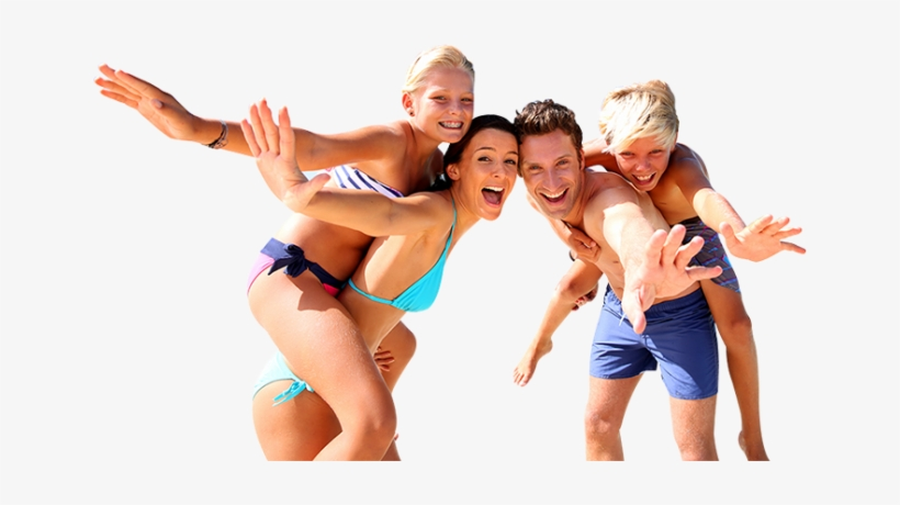 Family Beach Vacation - Family Having Fun On Vacation, transparent png #872