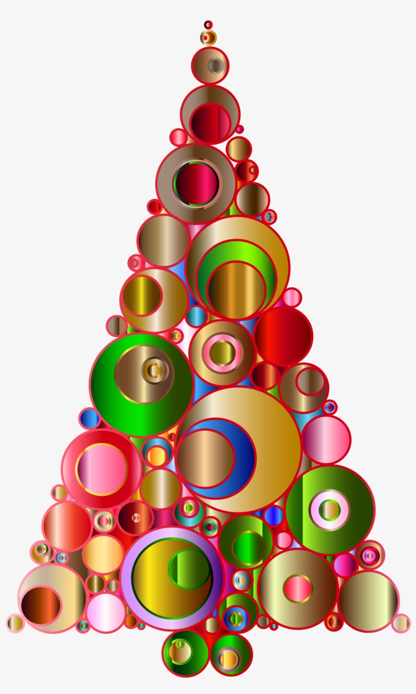 Abstract Christmas Tree Cliparts Msr-7 - Abstract Christmas Clip Art Free, transparent png #8862