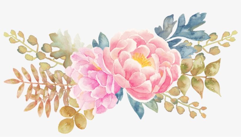 Watercolor Wreath Flower Png Fondo Transparente - Flowers Png, transparent png #9032