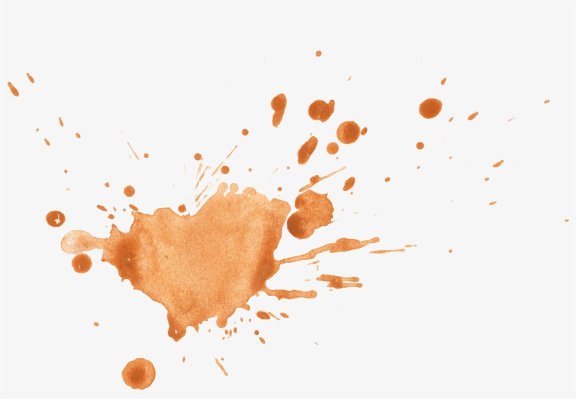 Free Download - Brown Watercolor Splash Png, transparent png #9229