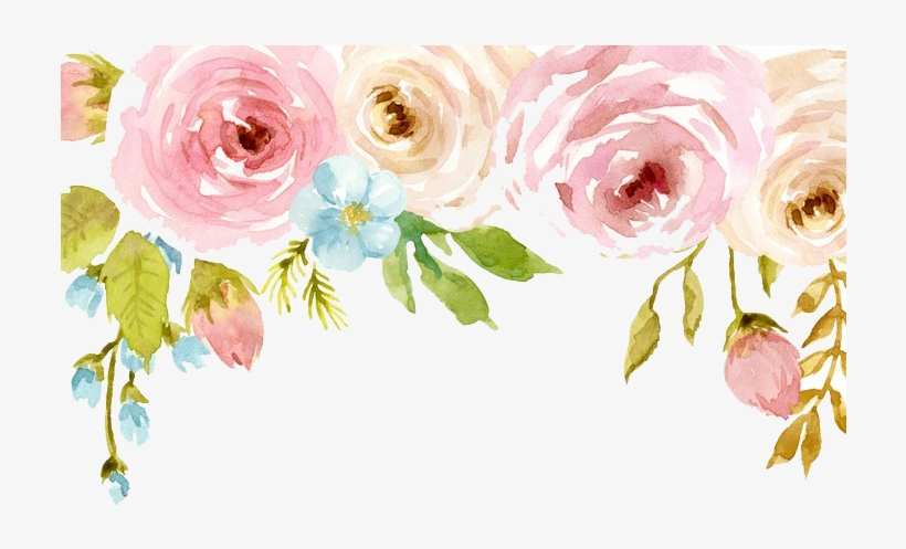Watercolor Flowers Png Free Download - Happy Birthday My