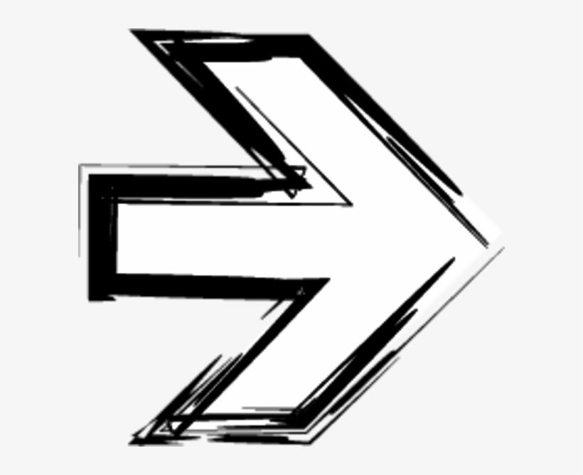 Arrows Sketch - Arrow Sketch Sign Png, transparent png #9312