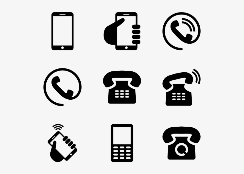 Phone Icons - Visiting Card Icons Png, transparent png #9339