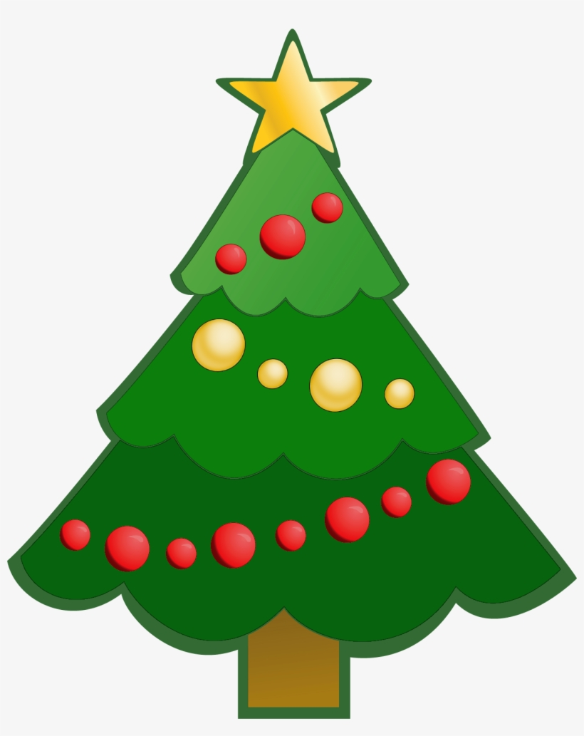 Collection Of Green Christmas Tree Clipart High Quality - Simple Christmas Tree Clipart, transparent png #9447
