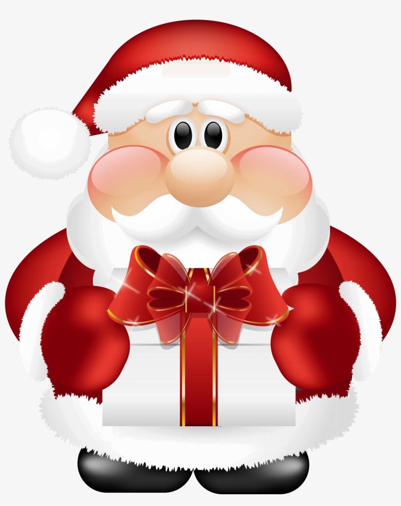 Santa Claus Png - Cute Santa Claus Png, transparent png #9476