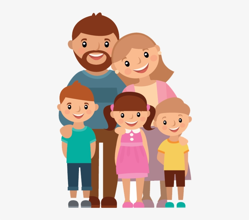 Clip Black And White Library Png For Free Download - Familia Com Tres Filhos, transparent png #957