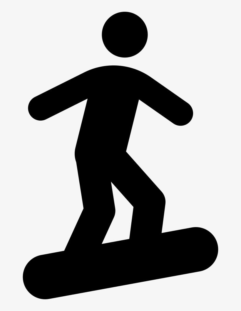 Stick Figure On Snowboard - Stick Figure Skateboarding Png, transparent png #9594