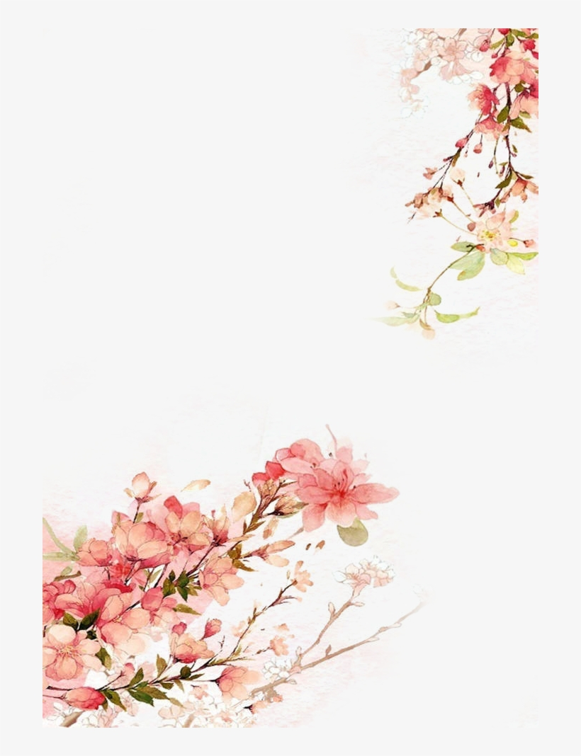 Watercolor Flowers Background - Free Watercolor Illustration Png, transparent png #9615
