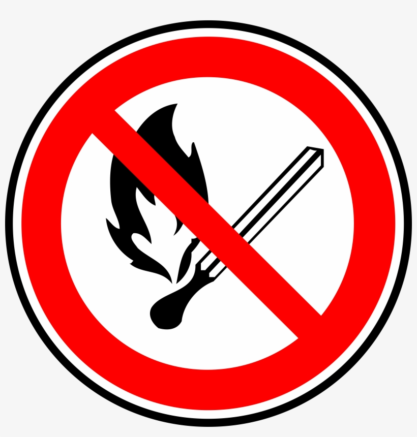 Sign, Phone, Stop, Symbol, Cell, Fire, Safety, Cartoon - Do Not Play With Fire, transparent png #9648
