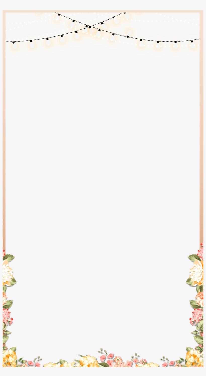Elegant Rose Gold Spring Floral Wedding Snapchat Filter - Snapchat Wedding Filter Png, transparent png #10317