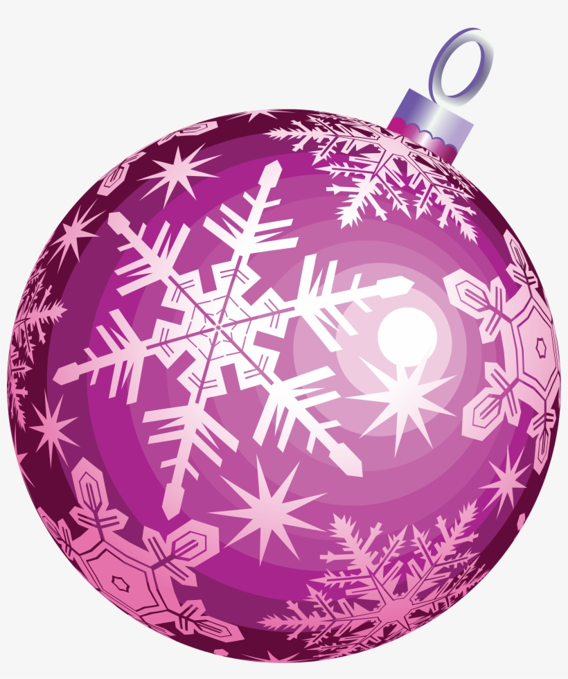 Christmas Ornament Transparent Background - Christmas Ball Pink Png, transparent png #10460