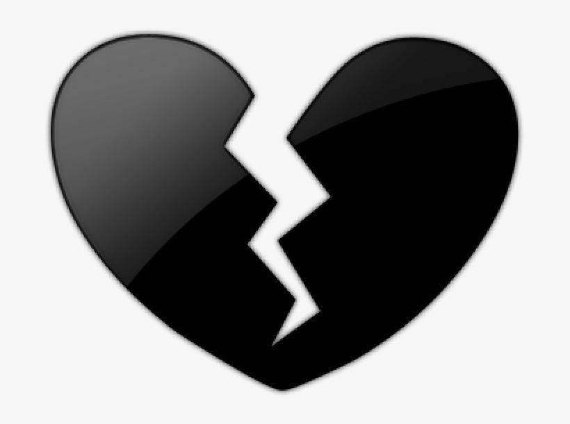 Free Png Emoji Black Heart Broken Png Png Images Transparent