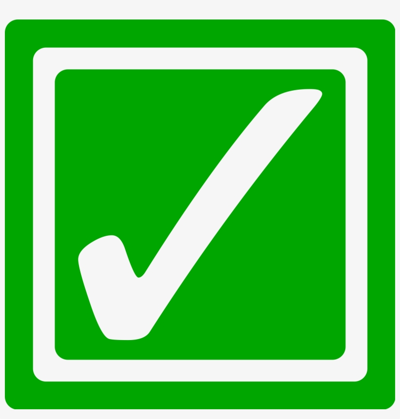 Graphic Library Stock Checkmark Clipart Self Check - Green Tick Box Icon, transparent png #10597