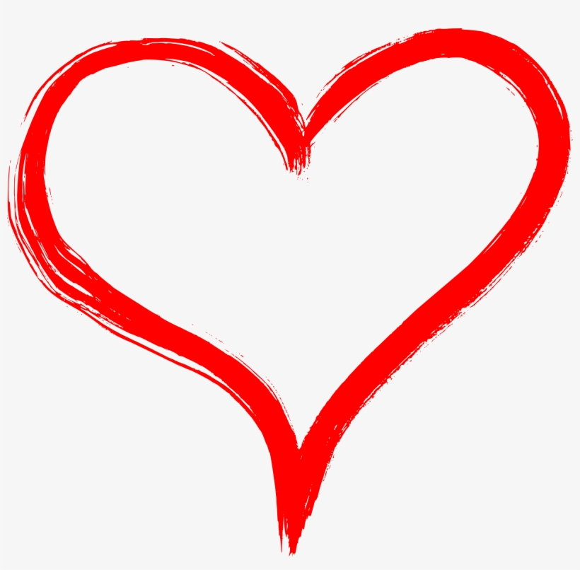 Hand Drawn Heart Png Transparent - Hand Drawn Heart Png, transparent png #10674