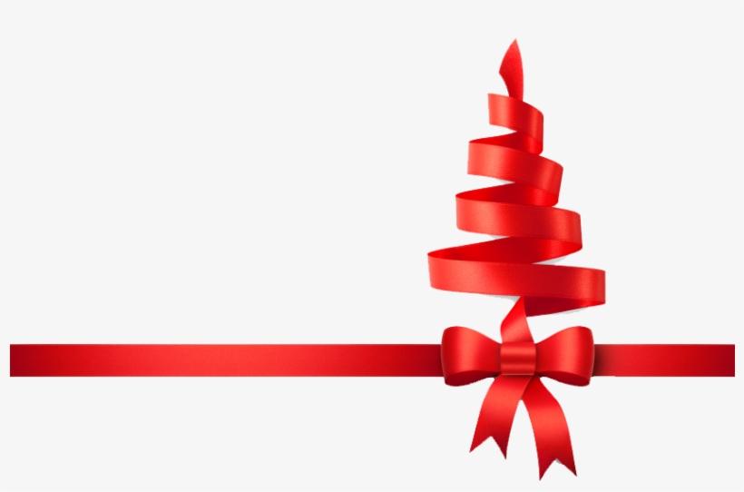 Christmas Ribbon Tree Png - Christmas Tree Ribbon Png, transparent png #10702
