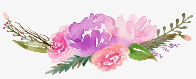 Royalty Free Flowers Watercolor Painting Clip Art Along - Watercolour Flower Clipart Free, transparent png #10852