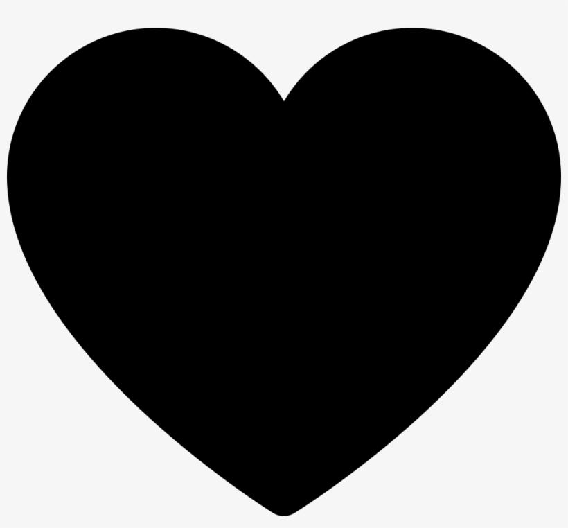 Solid Black Heart Clip Art At Clker - Heart Black And ...