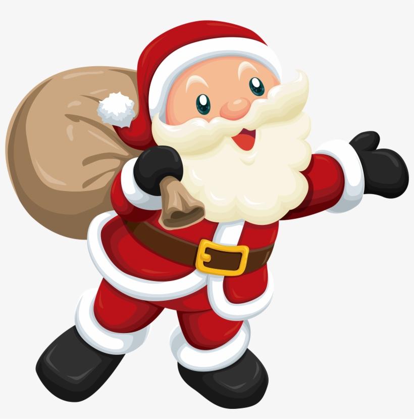 Cute Santa Claus Png - Cute Santa Claus Vector Png, transparent png #11074