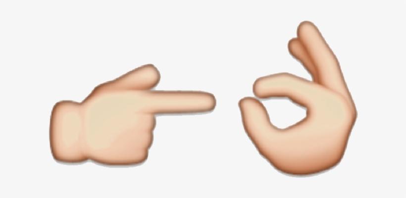 Hand Emoji Clipart Stop Sign - Hand Emoji, transparent png #11108