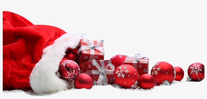 Christmas Gifts Scattered Around The Ground - Merry Christmas Blue Background, transparent png #11520