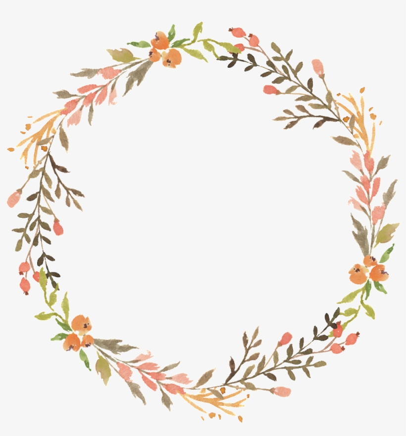 This Graphics Is Floral Wreath Watercolor Transparent - Transparent Floral Wreath Png, transparent png #11590