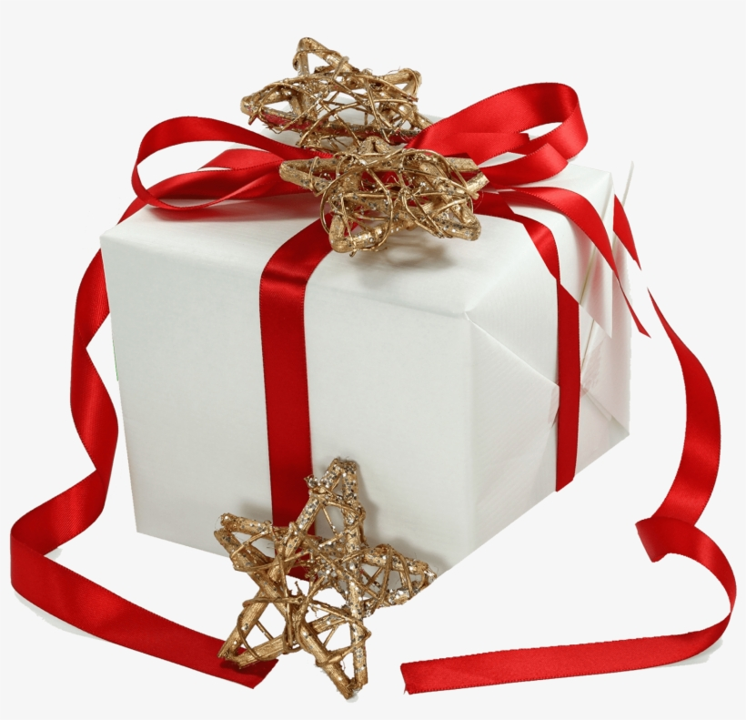Christmas Gift Ribbon Gold Stars - Last Day To Ship By Christmas Email, transparent png #11650