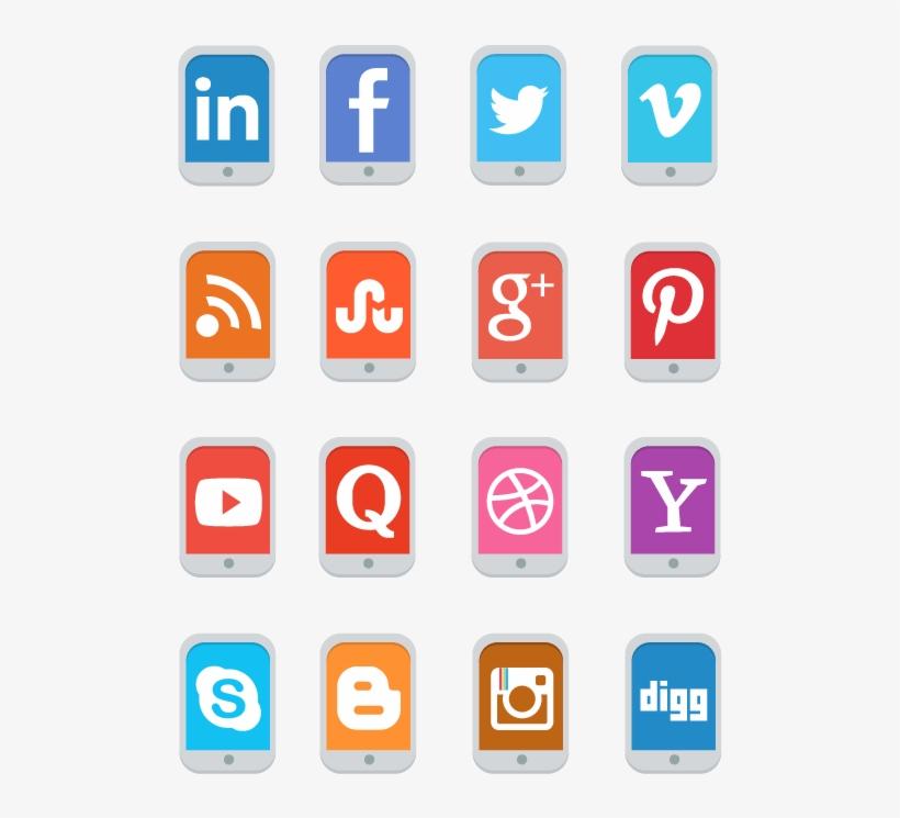 Social Media Icons Free Png - Social, transparent png #11825