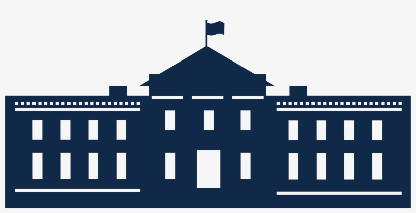 White House Png File - White House Silhouette Vector, transparent png #11827