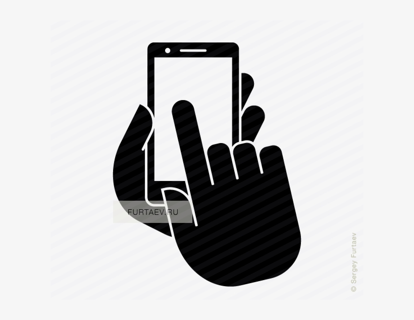 Image Free Mobile Phone Click Icon Of Smartphone In - Mobile Wireless Icon, transparent png #11954
