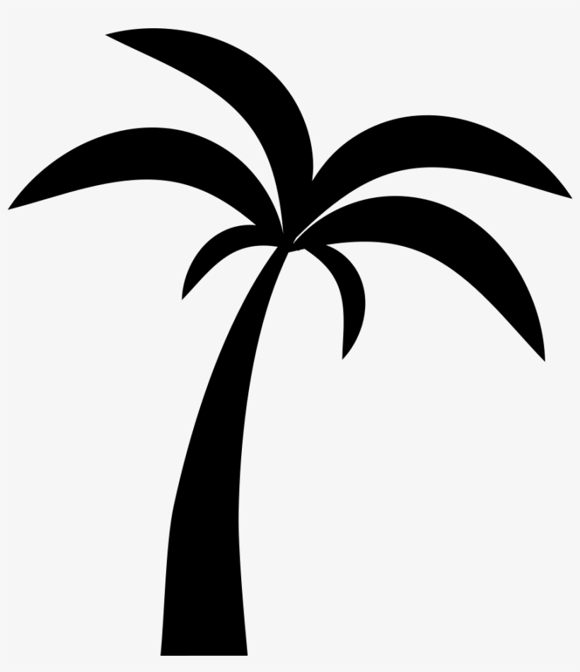 Clip Free Download Palms Vector Palmyra Tree - Palm Tree Icon Png, transparent png #12074
