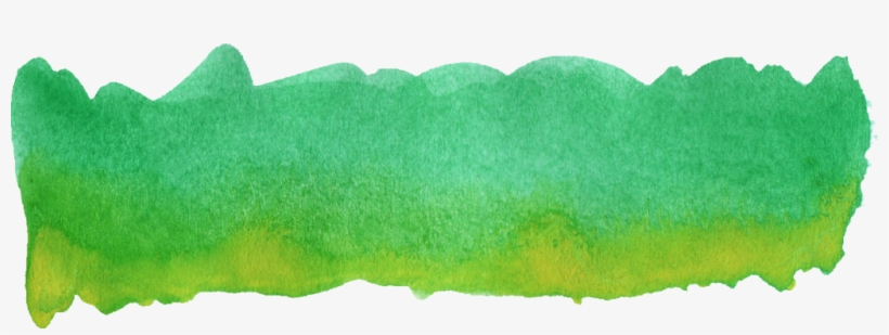 Colorful Watercolor Brush - Green Watercolor Paint Png, transparent png #12271